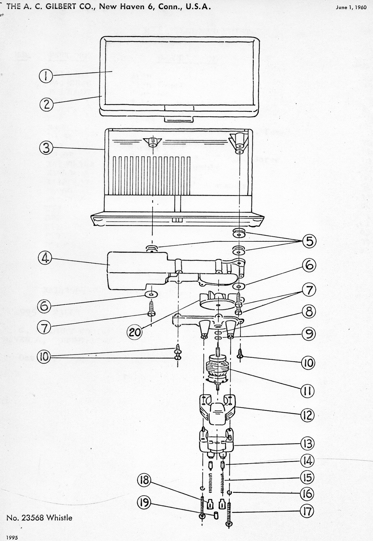 American Flyer Whistle 568 Diagram