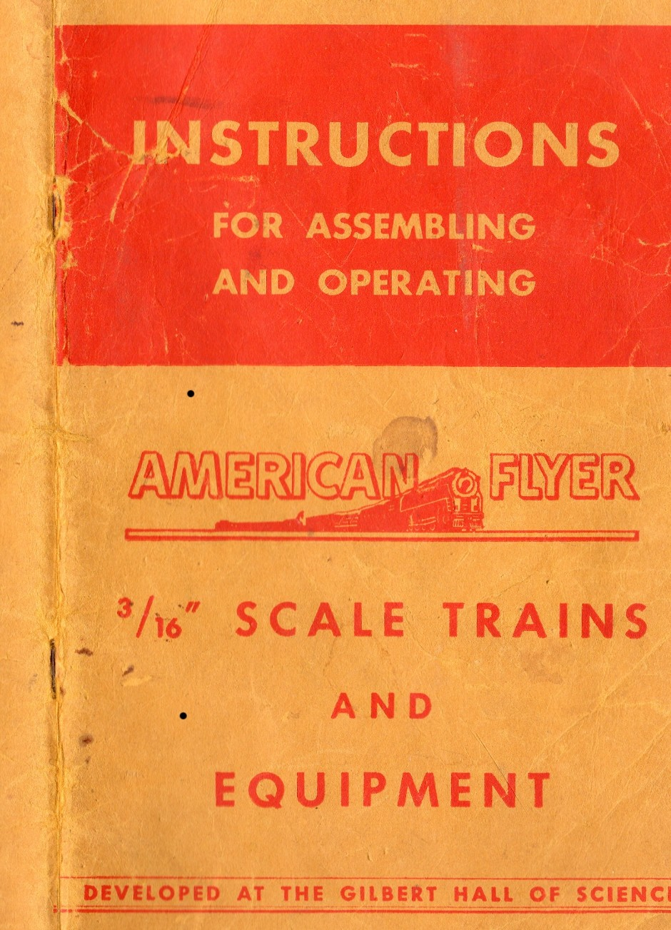 Instructions for Assembling and Operating American Flyer Scale Trains and Equipment - Cover Page