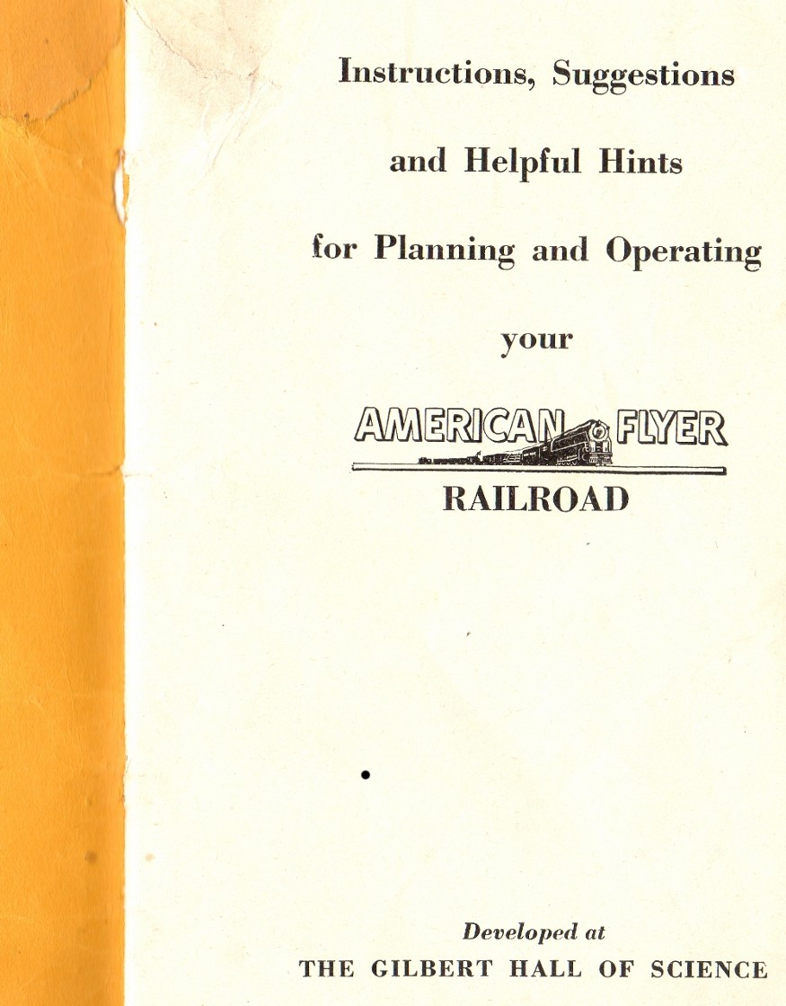 Instructions for Assembling and Operating American Flyer Scale Trains and Equipment - Cover