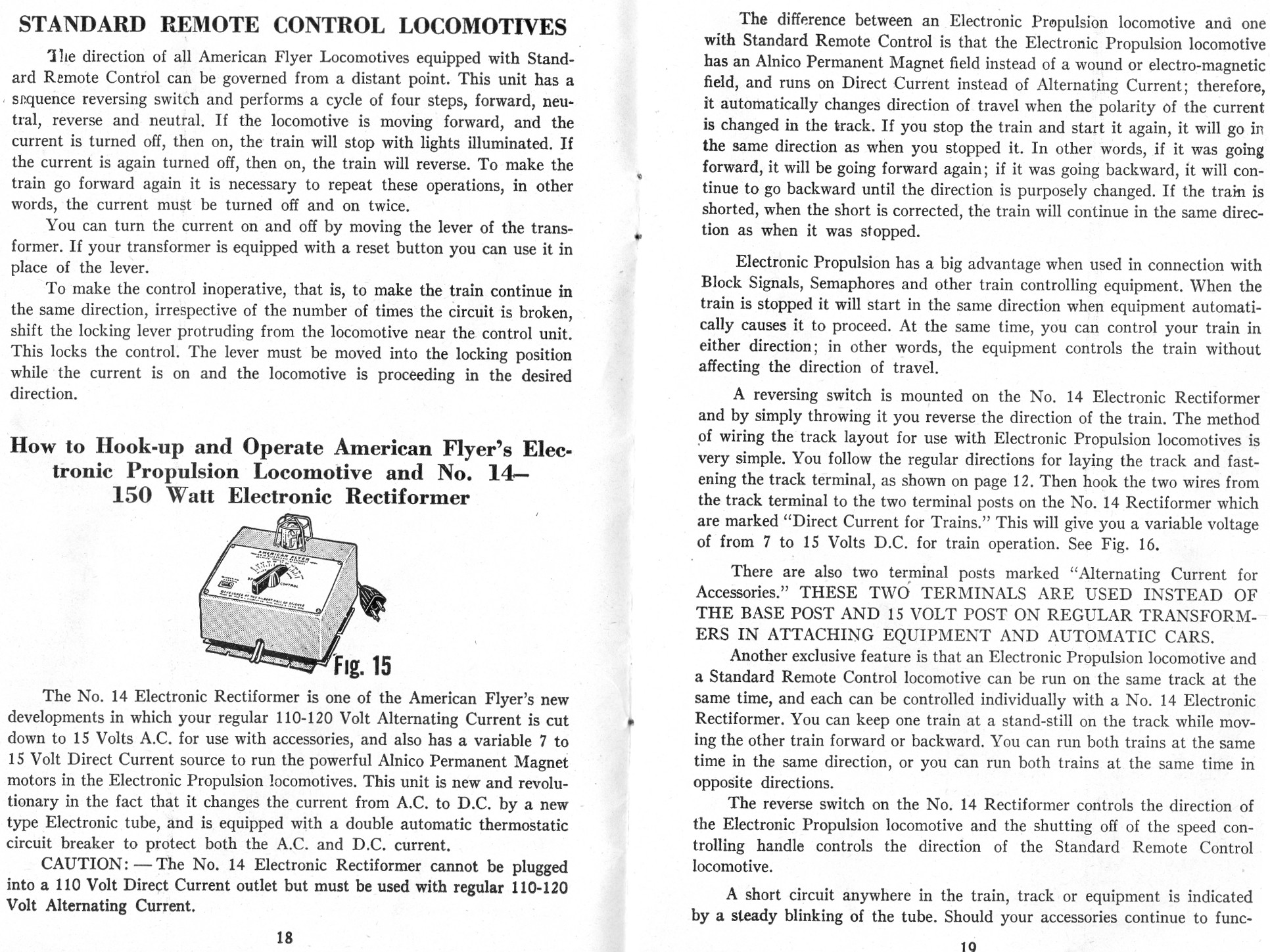 Standard Remote Control Locomotives