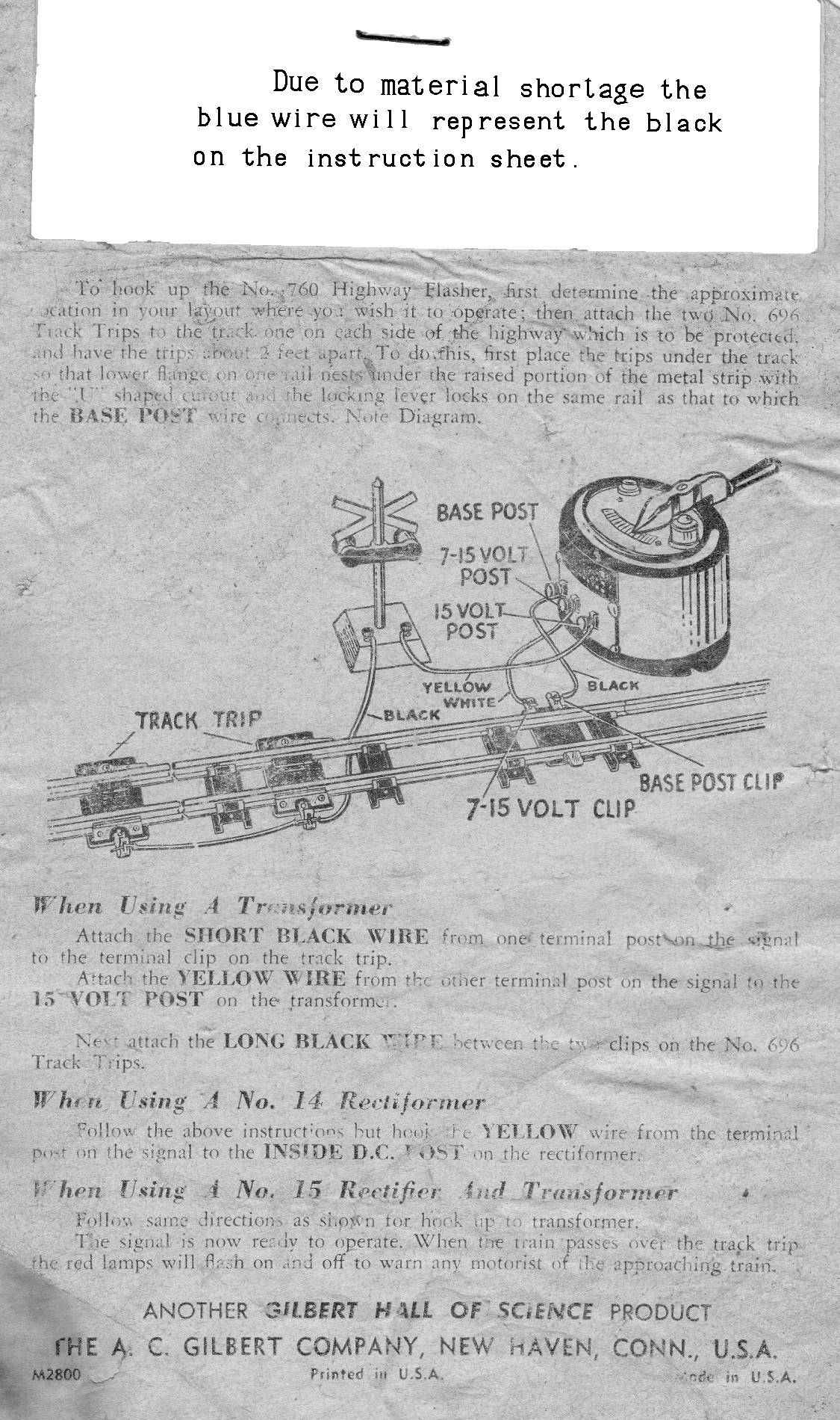 Instructions for Setting Up and Operating No. 760 Highway Flasher - Page 2