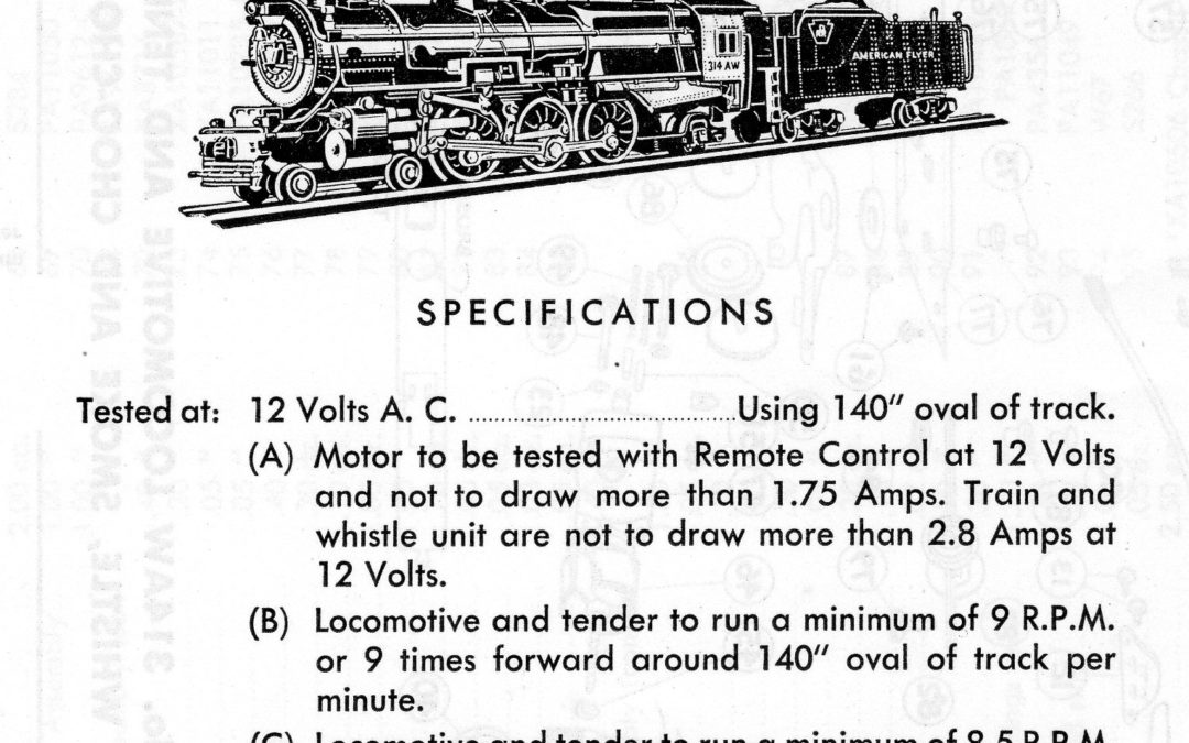 American Flyer Locomotive 314AW Parts List & Diagram