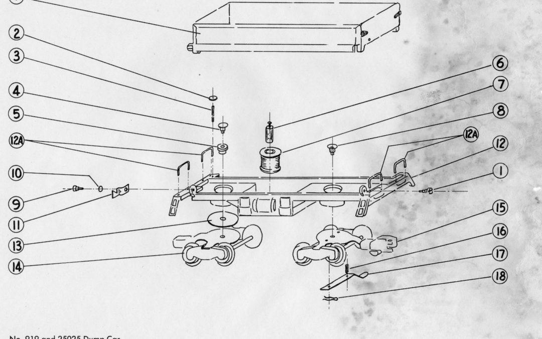 American Flyer Dump Car 919 Parts List & Diagram