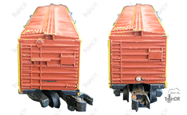 American Flyer Box Car 24018 MKT (Front & Rear View)