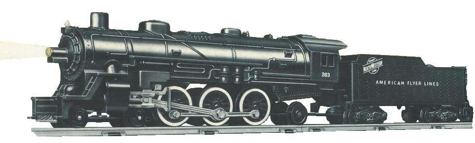 Gilbert American Flyer Number 283 Locomotive